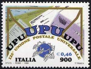 125° Anniversario dell'Unione Postale Universale - U.P.U.