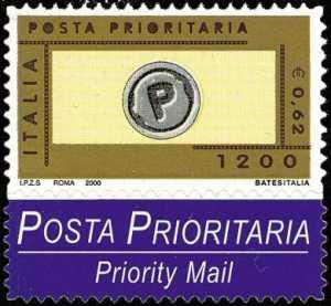Posta prioritaria - serie ordinaria - tipo del 1999 in colori diversi - autoadesivo