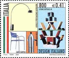 «Design italiano» - mobili e complementi d'arredo - Lampada da terra, libreria, caffettiera e poltroncina