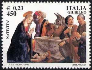 Celebrativi del Giubileo - «Natività di Cristo con adorazione dei pastori » -  Ghirlandaio