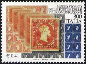 I tesori dei musei e degi archivi nazionali - Museo storico delle Poste e Telecomunicazioni - francobolli di Sardegna