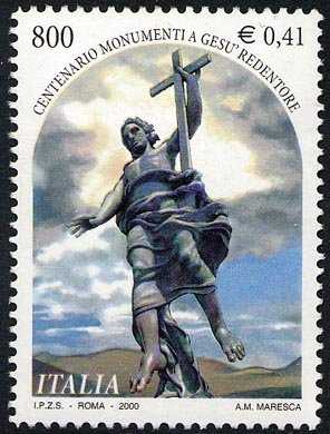 Centenario dei «Monumenti a Gesù Redentore»  - statua di V.  Jerace