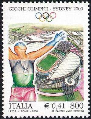 Lo sport italiano - Sydney 2000 - Giochi olimpici estivi - atleta eesultante