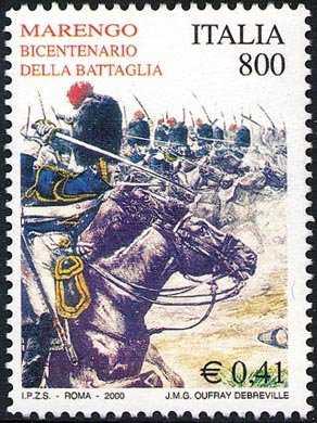 Bicentenario della Battaglia di Marengo - opera di J. M. G. Debreville