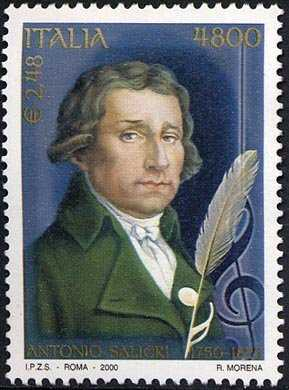 250° Anniversario della nascita di Antonio Salieri - ritratto del compositore