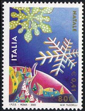 Natale - Scorcio del globo terrestre con paesaggio fiabesco