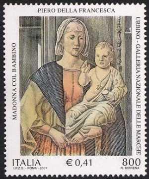Patrimonio artistico e culturale italiano - V° Centenario della morte di Giovanni della Rovere - «La Madonna di Senigallia» opera di Piero della Francesca