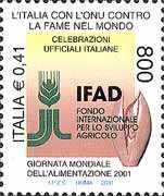 Giornata mondiale dell'alimentazione 2001 - Organismi internazionali umanitari : IFAD