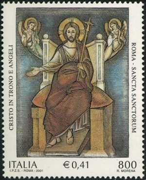 Patrimonio artistico e culturale italiano - Sancta Sanctorum - Roma - «Cristo in trono e angeli»