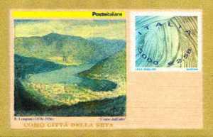 Omaggio all'industria serica italiana - francobollo impresso su Francobusta