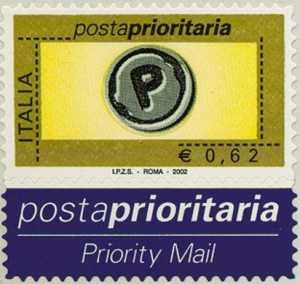 Posta Prioritaria - tipi del 2001 - valori in Euro -  62 c.