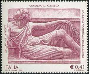 Patrimonio artistico e culturale italiano - 7° Centenario della morte di Arnolfo di Cambio, architetto e scultore - «Malato alla fonte»