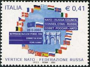 Vertice NATO-FEDERAZIONE RUSSA  per l'adesione della Russia al Patto Atlantico - Pratica di Mare - Roma