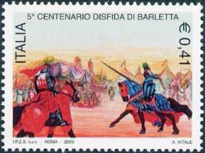 5° Centenario della Disfida di Barletta - dipinto
