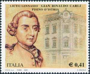 A ricordo dei valori storici e culturali rappresentati dal Liceo Ginnasio «Gian Rinaldo Carli» di Pisino d'Istria distrutto dai bombardamenti tedeschi