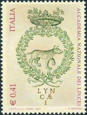 4° Centenario della fondazione della Accademia dei Lincei - emblema