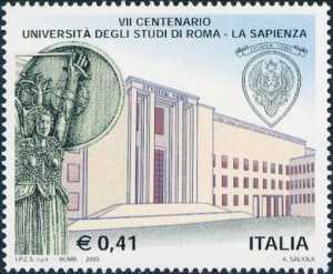 7° Centenario della istituzione dell'Università degli Studi «La Sapienza» di Roma - palazzo del Rettorato