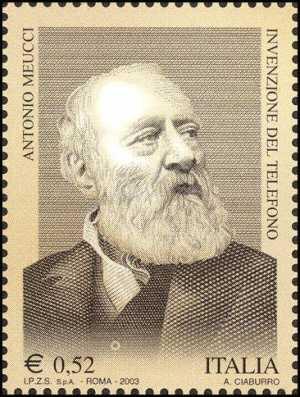 Omaggio ad Antonio Meucci, inventore del telefono - ritratto