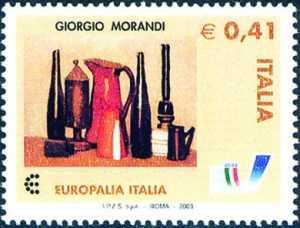 «Europalia Italia 2003» - Festival artistico, culturale e della creatività - Emissione congiunta con il Belgio - «Natura morta» di G. Morandi