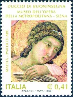 Mostra dedicata al pittore Duccio da Buoninsegna - museo dell'Opera della Metropolitana - Siena - particolare della «Maestà»