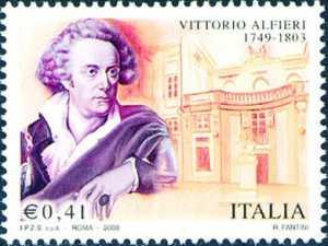 Bicentenario della morte di Vittorio Alfieri - ritratto dello scrittore