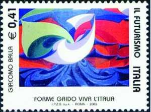 Il Futurismo - Movimento culturale ed artistico fondato da F. T. Marinetti - Opere di Giacomo Balla - dipinto «Forme Grido Viva l'Italia»