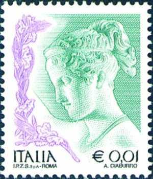 «La donna nell'arte» - tipi precedenti con dicitura «I.P.Z.S   S.p.A,  - Roma»   - «Ebe»