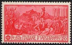 1930 -  4º Centenario della morte di Francesco Ferrucci - l'assedio di Volterra