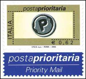 Posta prioritaria - tipi precedenti con dicitura «I.P.Z.S.  S.p.A. - Roma» - 0,62 c.