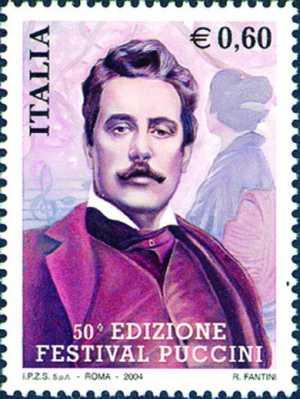 50ª  Edizione del «Festival Puccini» - ritratto di Giacomo Puccini