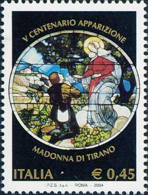 5° Centenario dell'apparizione della Madonna di Tirano - vetrata del Santuario