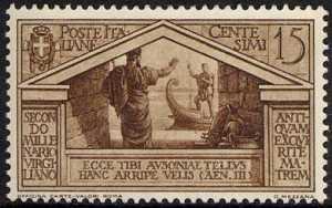 1930 - Bimillenario della nascita di Virgilio - Eleno saluta Enea