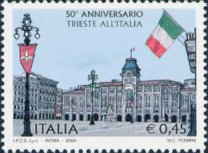 Cinquantenario della restituzione della città di Trieste all'Italia - Piazza dell'Unità d'Italia