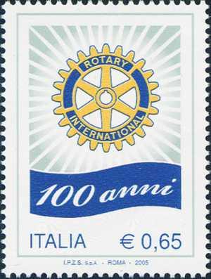 Centenario della fondazione del Rotary International - logo