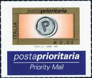 Posta Prioritaria - tipi precedenti con millesimo 2005 - 60c.