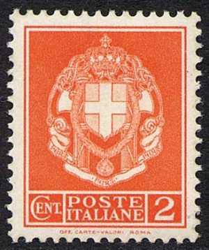 1930 - Serie ordinaria - Nuovo tipo emesso per l'affrancatura della corrispondenza per ciechi