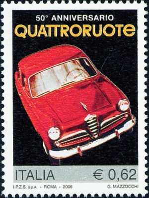 Cinquantenario della rivista Quattroruote - prima copertina del febbraio 1956