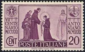 1931 - 7º Centenario della morte di Sant'Antonio - il santo entra nell'ordine francescano