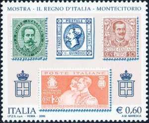 «Il Regno d'Italia» - Mostra filatelica a Palazzo Montecitorio - francobolli del Regno