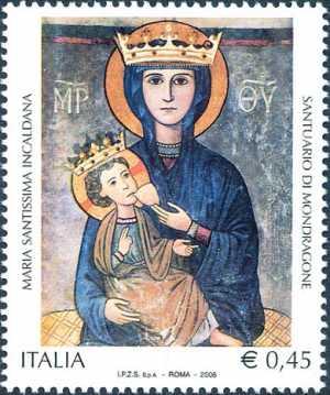 Patrimonio artistico e culturale italiano - Basilica di Maria Santissima Incaldana - Mondragone - icona bizantina