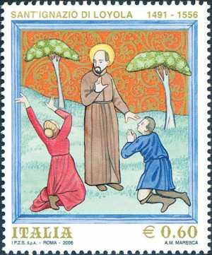 450° Anniversario della morte di Sant'Ignazio da Loyola  - iconografia di Sant'Ignazio di Loyola