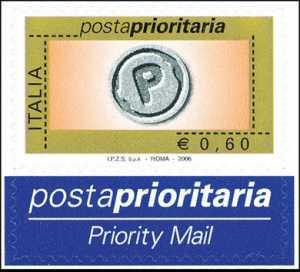 Posta prioritaria - tipo precedente con millesimo 2006 - 60 c.