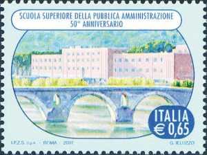 Cinquntenario della istituzione della Scuola Superiore della Pubblica Amministrazione - Roma - la sede della scuola