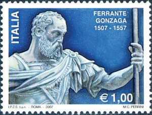 5° Centenario della nascita di Ferrante Gonzaga - protagonista della vita italiana ed europea del Cinquecento - statua dello scultore Leone Leoni