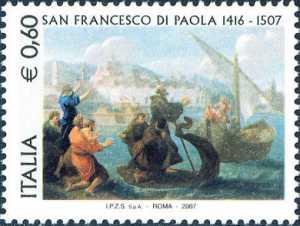 5° Centenario della morte di San Francesco di Paola - dipinto di Benedetto Luti