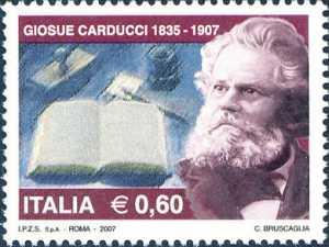 Centenario della morte di Giosué Carducci - ritratto del poeta