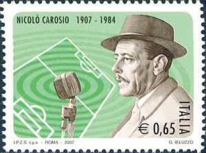 Lo sport italiano - Centenario della nascita di Niccolò Carosio - ritratto del radiocronista
