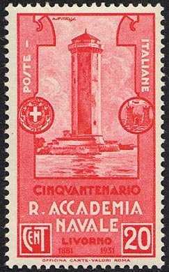 1931 - 50º Anniversario della Regia Accademia Navale di Livorno - Torre del Marzocco