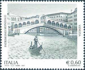 Patrimonio artistico e culturale italiano - Venezia , patrimonio mondiale dell'UNESCO - Ponte di Rialto sul Canal Grande