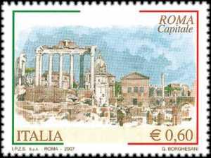 «Roma Capitale» - Foro romano - acquerello